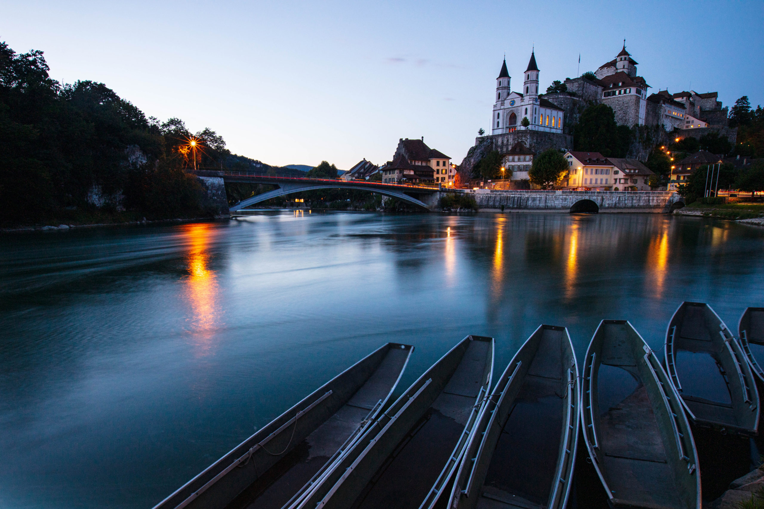 Blue hour in Aarburg